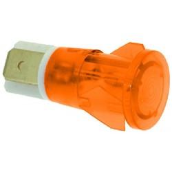 LAMPADA SPIA ARANCIO 230V CODICE: 3221025 5 pezzi