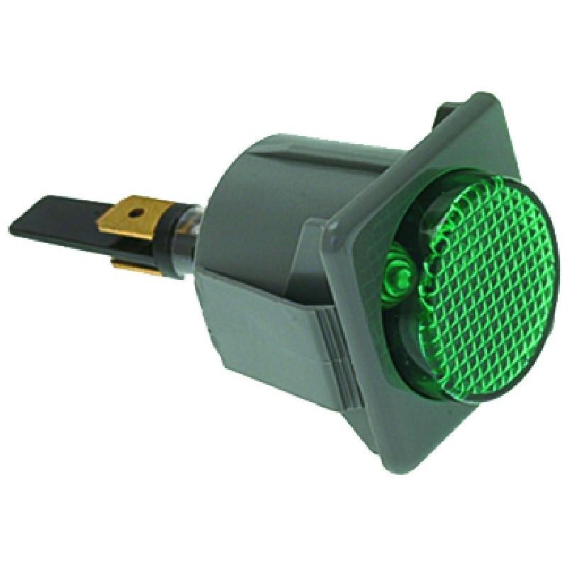 LAMPADA SPIA VERDE 220V CODICE: 3221054