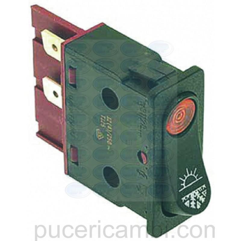 PULSANTE BIPOLARE RISCIACQUO GIALLO 3319132