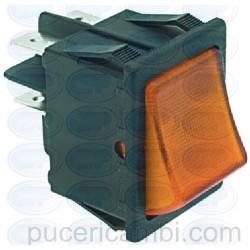 PULSANTE BIPOLARE ARANCIONE 16A 250V 3319174