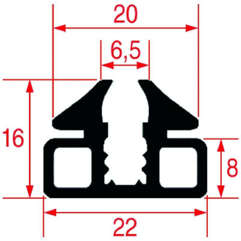 GUARNIZIONE VETRO FORNO 1400 MM 3186352