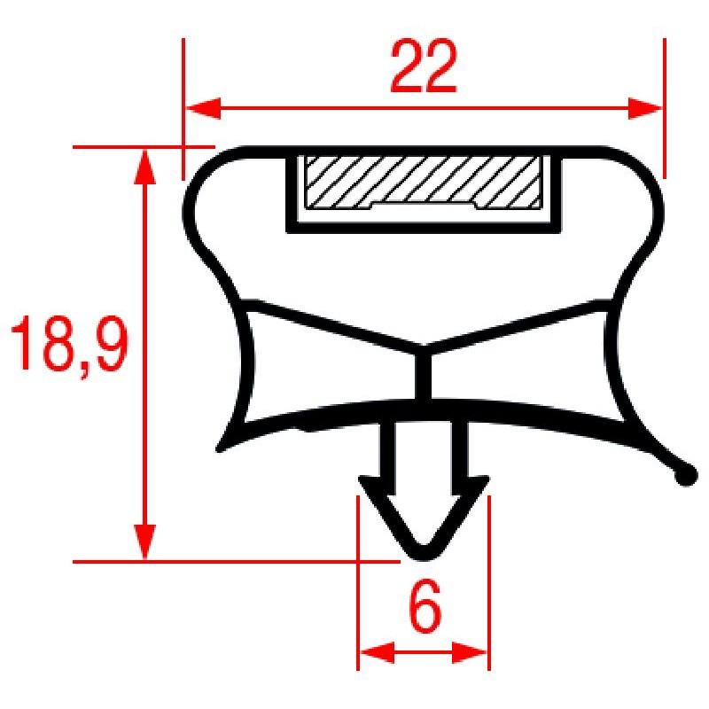 GUARNIZIONE AD INCASTRO 410X185 MM 3186511